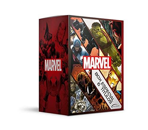 Box Marvel - 6 Títulos: Guerra Civil, Guardiões da Galáxia (Caos na Galáxia) , Demolidor (O Homem sem Medo), Homem-Aranha (A Última Caçada de Kraven), ... (Quem é o Pantera Negra), Planeta Hulk
