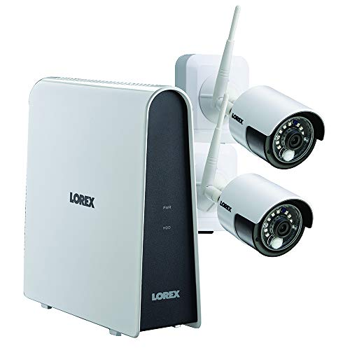 Lorex LHB80632GC2W Wire-Free 6-Channel HD DVR with 2 Cameras, White Home Security Systems