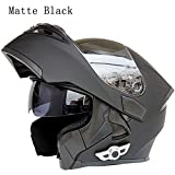 MOPHOTO Bluetooth Integrated Motorcycle Helmets, Anti-Glare...