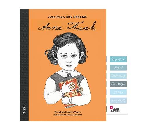 Little People Big Dreams: Anne Frank (edición alemana) + pegatinas de diario (biografías para niños)