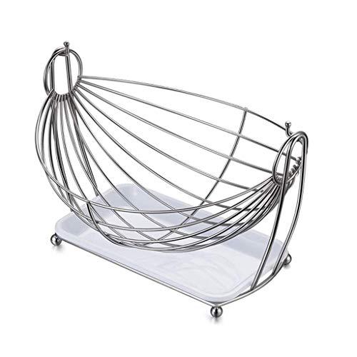Metal Fruit Basket, roestvrij staal met Lekbak Candy Bread Basket for de woonkamer Desktop Exhibition Storage