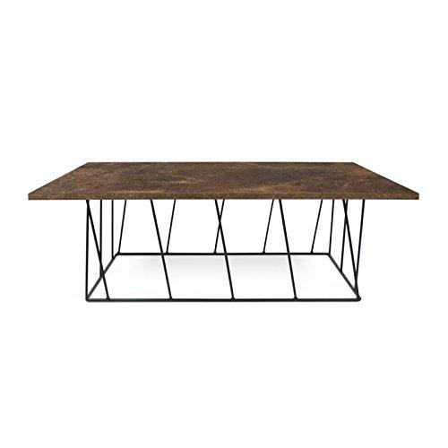 Paris Prix - Temahome - Table Basse Helix 120cm Rouille & Métal Noir