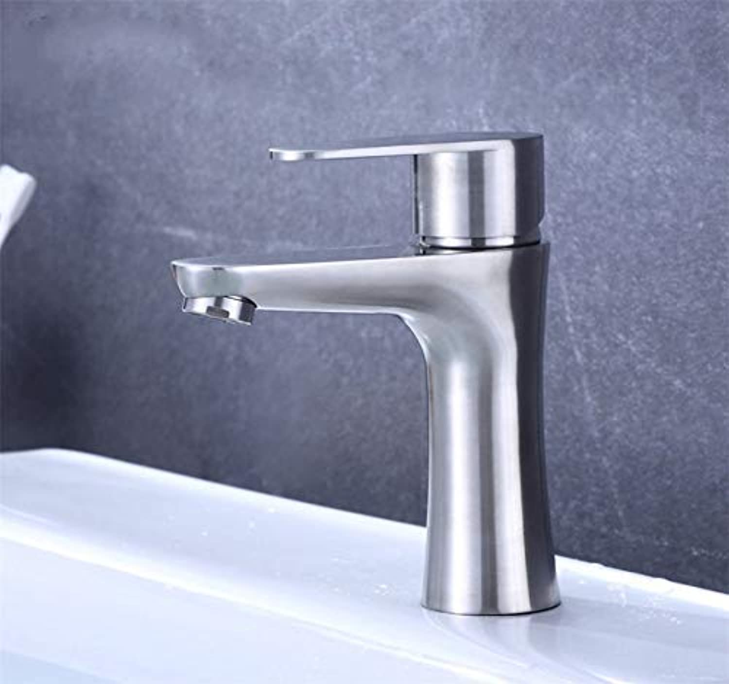 Oudan Taps 304?Stainless Steel Faucet Hot And Cold Washbasin Mixer (color   -, Size   -)