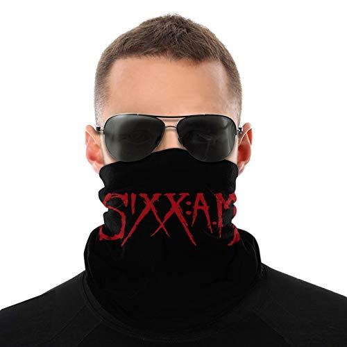 Sixx Am Logo Unisex Variety Face Mask Bandanas,3d Printe Dseamless Polyester Balaclava Fishing Seamless Headwear Travel Head Scarf Breathable Headkerchief