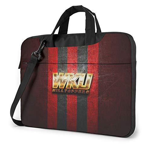 Western-Kentucky-Hilltoppers-Golden-Red Laptop Bag Durable Computer Bags Briefcase Shoulder Bag Laptop Case for Men,Women, Business Briefcases Suitable for Computer/Laptop/MacBook 13 inch