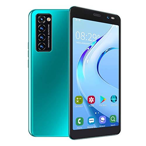 BTER Smartphone Desbloqueado para Android, Pantalla HD de 5,45'con Enfoque automático, teléfono móvil con Doble SIM, Smartphone con reconocimiento Facial con Tarjeta 128G, cámara de 2MP + 5MP(Verde)