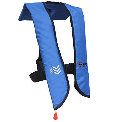 Eyson Inflatable Life Jacket Life Vest Basic Automatic/Manual (709 Blue Manual)