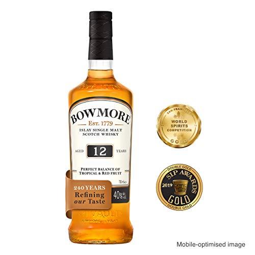 Bowmore 12 Jahre Single Malt Scotch Whisky, mit Geschenkverpackung, ausgewogen mit rauchigen Geschmacksnoten, 40% Vol, 1x 0,7l - 2