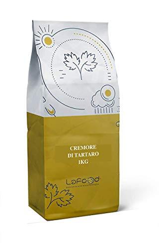 Cremor Tartaro 100% Naturale – 1KG - Lafood - Lievito alimentare secco - PRODOTTO PURO AD USO ALIMENTARE - E336