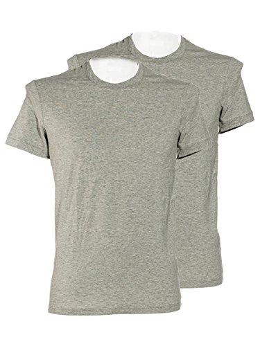 Dolce & Gabbana Day by Day - Pack de 2 camisetas de cuello redondo para hombre, algodón elástico, color gris gris 52