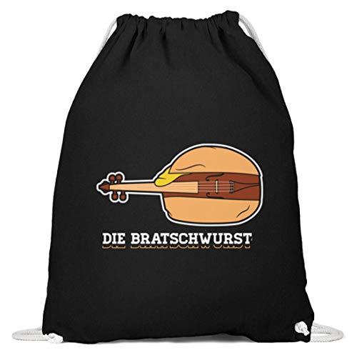 Chorchester Die Bratsch-Wurst Bratsche Viola Geige - Baumwoll Gymsac -37cm-46cm-Schwarz