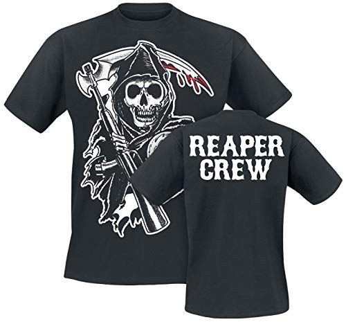 Sons of Anarchy Reaper Crew Männer T-Shirt schwarz M 100% Baumwolle Fan-Merch, TV-Serien