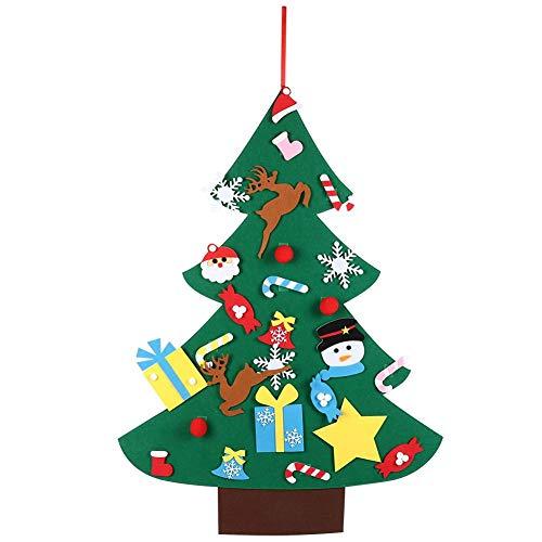 Decorazione per albero di Natale in feltro piatto, tavolo da festa in casa fai-da-te Mini decorazione per albero di Natale Puntelli di Natale Ornamento regalo Decorazione per albero di Natale interno