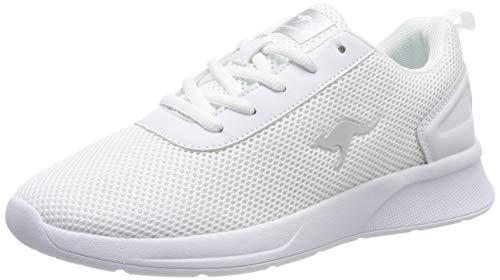 KangaROOS Damen KF-A Ease Sneaker, Weiß (White/Silver 0002), 39 EU