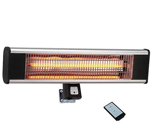 JAY-LONG Stufa Radiante A Infrarossi da Esterno 1800 Watt con Telecomando, Larghezza 65 Cm, Stufa Elettrica da Esterno A Parete, Peso 2,5 kg