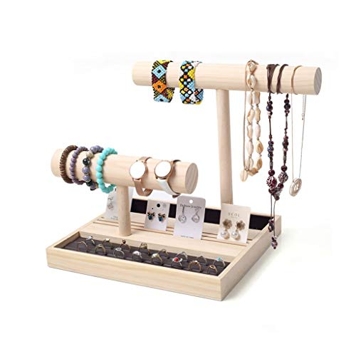 Afairy Joyería Bandeja Desmontable Joyería de Almacenamiento Pendientes Colgantes Estante Collar Pulsera Joyas Set (Color : A)