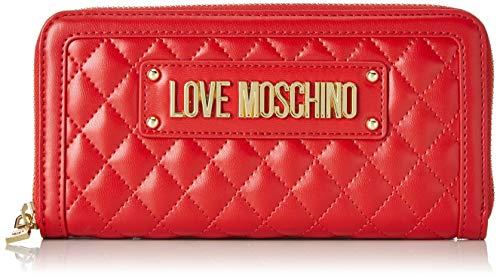 Love Moschino Portafogli Quilted Nappa Pu, Donna, Rosso (Rosso), 9x2x20 cm (W x H x L)
