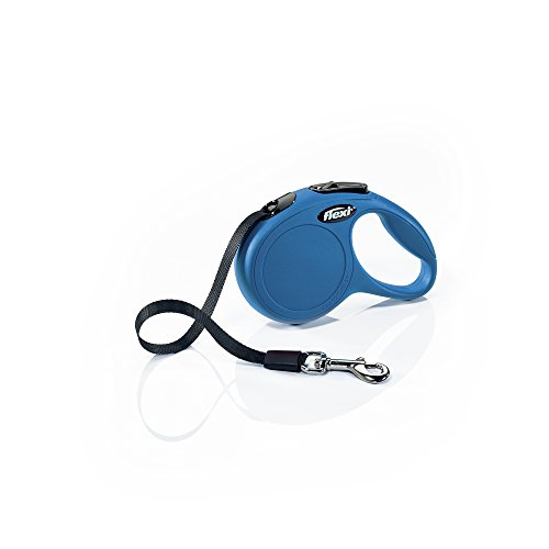 FLEXI New Classic Retractable Dog Leash (Tape), 10 ft, Extra Small, Blue (CL00T3.250.BL)