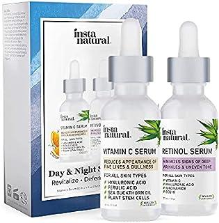 Day & Night Duo Bundle - Vitamin C Serum & Retinol Serum - Natural & Organic Anti Aging Formula for Face - Improve Skin Te...