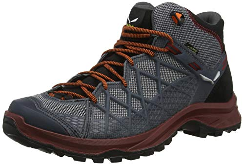 Salewa MS WILD HIKER MID GTX, Herren Trekking- & Wanderstiefel, Schwarz (Black/biking Red 992), 43 EU (9 UK)