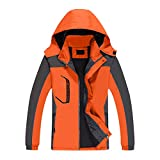 Leichte Softshell-Jacken für Damen Wasserdichte, atmungsaktive, wasserabweisende, winddichte Kapuzenjacken für den Außenbereich zum Wandern, Laufen, Radfahren, Trekking, wasserdichte...