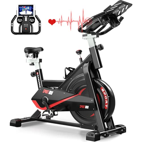 Indoor Cycling Bike Stationary,Belt Drive Magnetic Resistance Exercise Bike,with Heavy Flywheel,comfortable Seat and Adjustable Handlebar,for Home Gym Aerobic,330 Lbs Weight Capacity