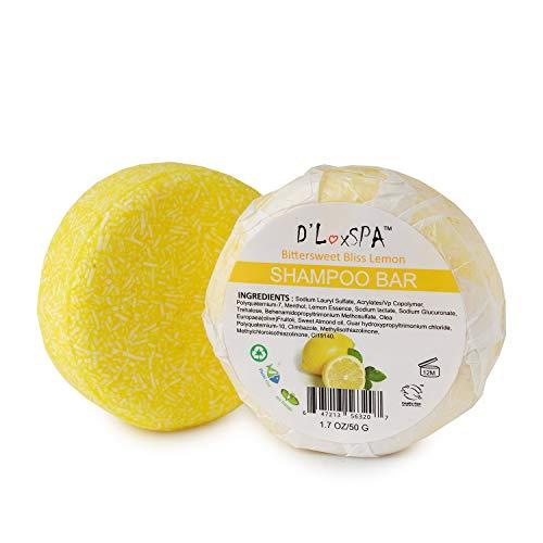 DLuxSpa Lemon ECO Friendly Solid Travel Shampoo Bars for Hair 1.7oz