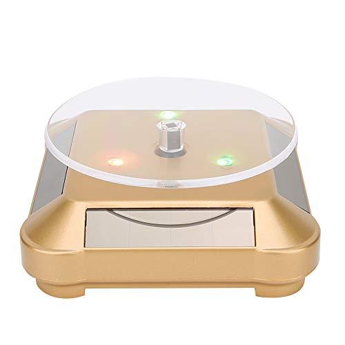 Da Dini Solar Showcase pour affichage de bijoux Powered LED électrique Tourne-disque Stand pour bijoux Pontergal avec lumière