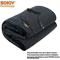 Sojoy 12V Heated Smart Multifunctional Travel Electric Blanket for Car