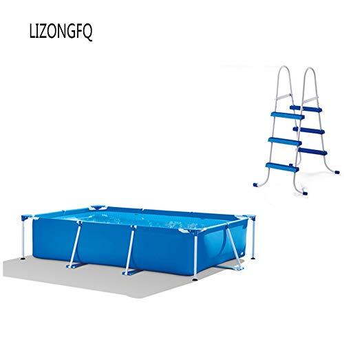 Dsqcai Große Familie Erwachsenen Klammer Schwimmbad Verdickung Große Kinder Aufblasbare Sommer Schwimmbad Faltbare Aufblasbare Dreischichtige Composite-Clip-Netz