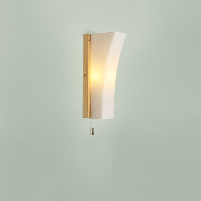 ordenar ahora GFL GFL GFL Lámpara de Parojo de Madera Maciza Dormitorio cabecera luz de Lectura Sala de Estar Creativa Pasillo Pasillo luz E27 luz con Interruptor  buena calidad