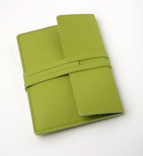 E-Reader-Ledertasche Fifth Avenue - grün: Lederhülle passend für Tolino, Kindle, Sony, Kobo, Pocketbook etc.