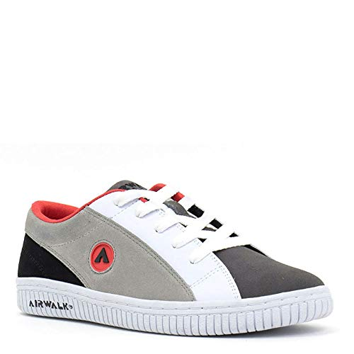 Airwalk Mens The One Suede TRI Gray Skate Inspired Sneakers Shoes 9