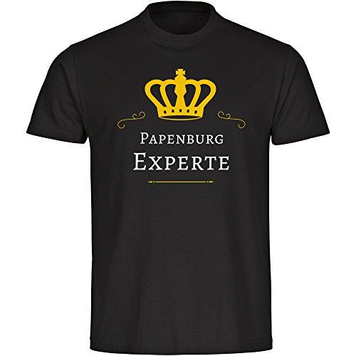 Herren T-Shirt Papenburg Experte - schwarz - Größe S bis 5XL, Größe:XXXXL