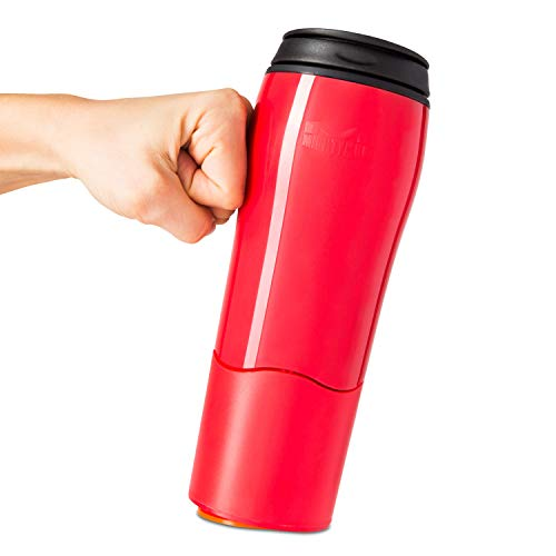 Mighty Mug Go, Double Wall Plastic 16oz Travel Mug featuring No Spill Smartgrip Technology