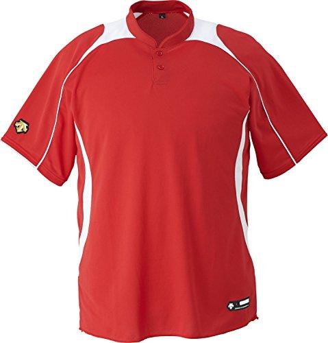 DESCENTE(デサント) 野球 立衿2ボタンベースボールシャツ ホワイト XOサイズ DB110B