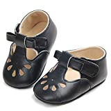 Csfry Infant Baby Girl Mary Jane Flats Toddler Shoes Black