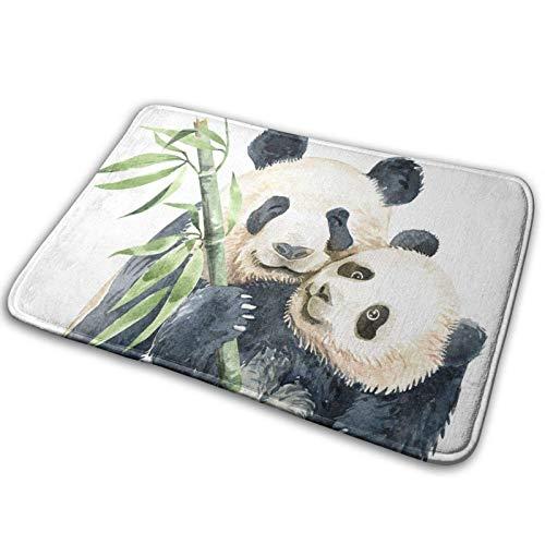 N\A Alfombra de bambú para baño de bambú con diseño de Panda de Acuarela para mamá, Alfombra Antideslizante para Interior, Exterior, Cocina, Entrada, baño