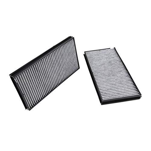 1 Paar Carbon-Faser-Innenraumluftfilter Autoklimaanlage Gitter Ersatz Fit for BMW 5er E60