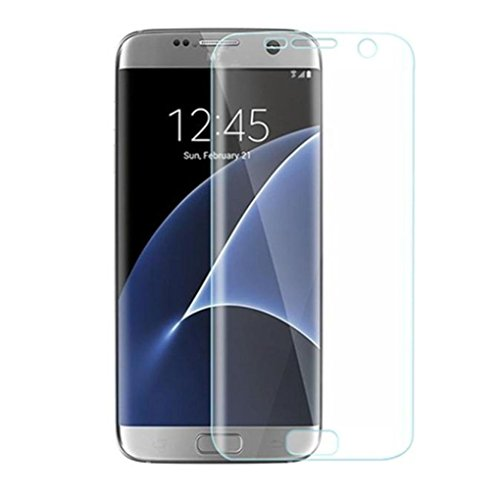 Galaxy S7 Screen Protector, Safodo [Full Coverage] [Anti-Scratch] [Anti-fingerprint] Bubble Free Curved Edge-to-Edge Screen Protector Film [Ultra High Definition Invisible] [1-PACK]