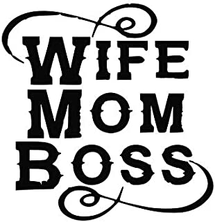 Wife Mom Boss NOK Decal Vinyl Sticker |Cars Trucks Vans Walls Laptop|Black|5.5 x 5.5 in|NOK104