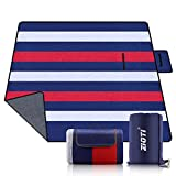 Outdoor Waterproof Picnic Blanket, Extra Large 79' X 79' 3-Layer Thickening Foldable Sand Free Beach...