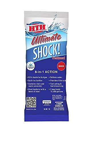 HTH 52027 Ultimate Shock Treatment Swimming Pool Chlorine Cleaner, 1 lb