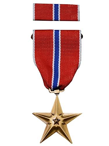 JXS Recuerdos de la Insignia Americana de la Segunda Guerra Mundial, Medalla de Estrella de Bronce, reproducción 1: 1, Insignia de aleación, colección de Fans Militares