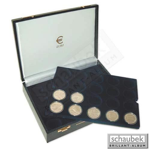 Schaubek Numismatik Münzkollektion Münzkassette BRD - 10,- Euro Gedenkmünzen 1960/33