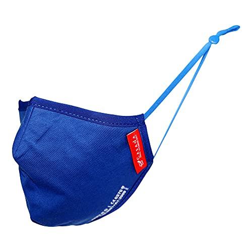 FFP2 zertifizierte Nano-Maske königsblau 5 Stück Casada - Gesichtsschutz Hygiene Schutzmaske Mehrwegmaske Mundschutz Wiederverwendbar Waschbar Baumwolle