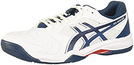 ASICS Men's Gel-Dedicate 6 Tennis Shoes, 10, White/MAKO Blue