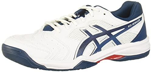 ASICS Men's Gel-Dedicate 6 Tennis Shoes, 11M, White/MAKO Blue
