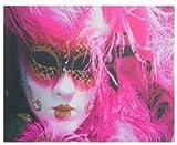 AVENUELAFAYETTE Cadre Toile Tableau Masque Carnaval de Venise - 50 x 40 cm (M1)