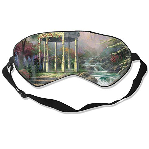 Gazebo Spring Forest Colorful Blindfold & Eye Sleep Mask with Adjustable Head Strap, Durable Soft Eye Cover for All Night Sleep, Travel, Shift Work, Meditation, Nap